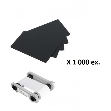 Pack cartes noires PVC-U
