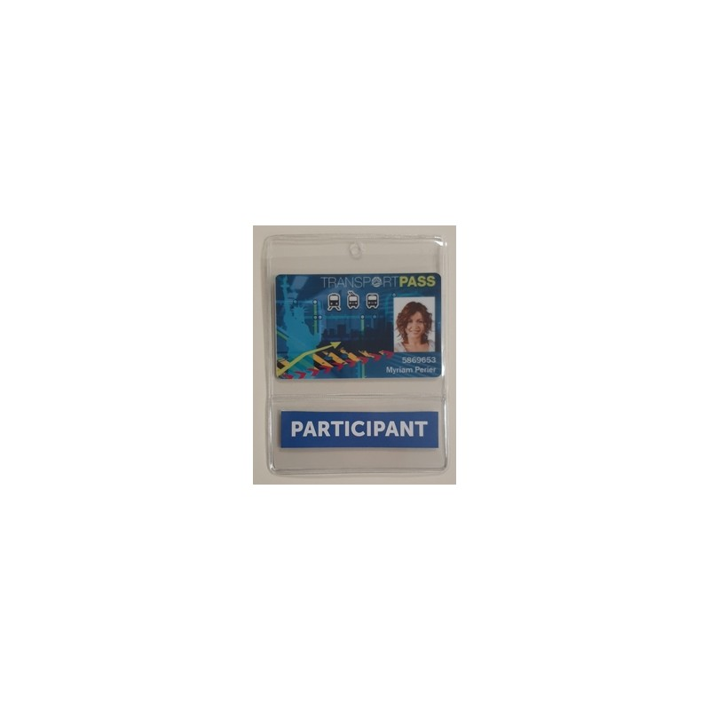 porte badge souple + pochette bandeau bas