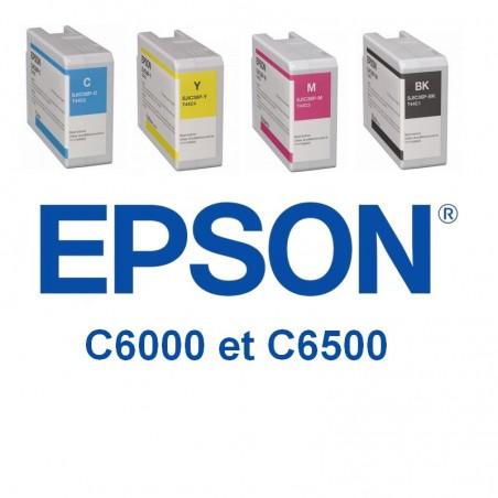 pack de 4 cartouches Epson C6000 et C6500