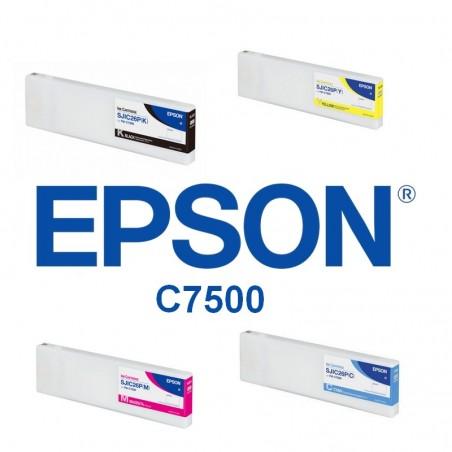 Pack de 4 cartouches pour Epson C7500