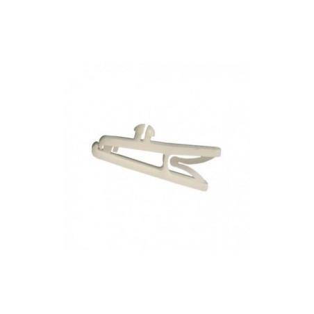 clips plastiques blanc