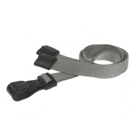 cordons unis gris pince plastique