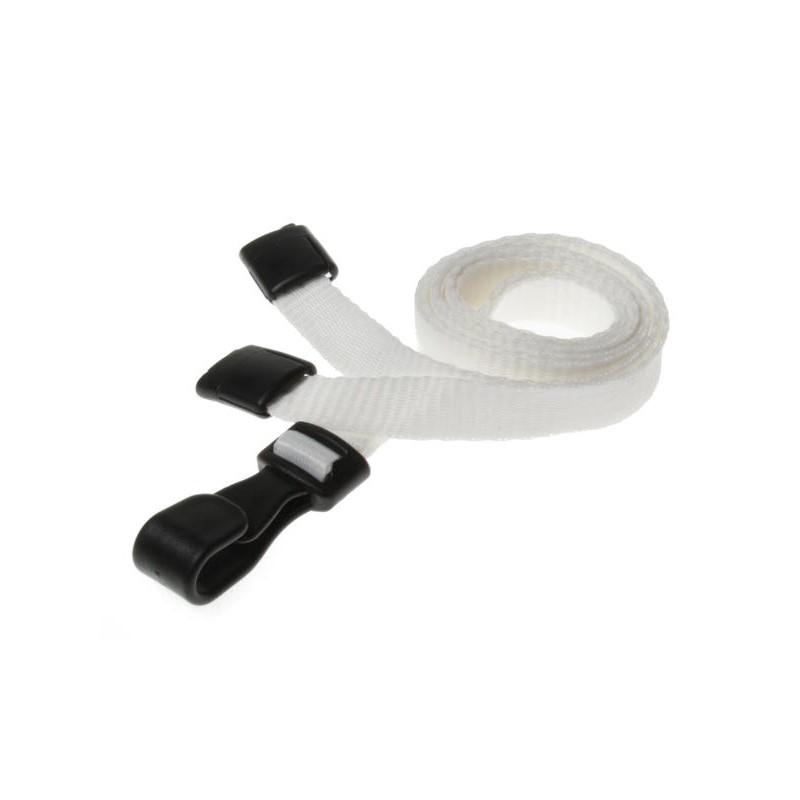 cordons unis blanc pince plastique