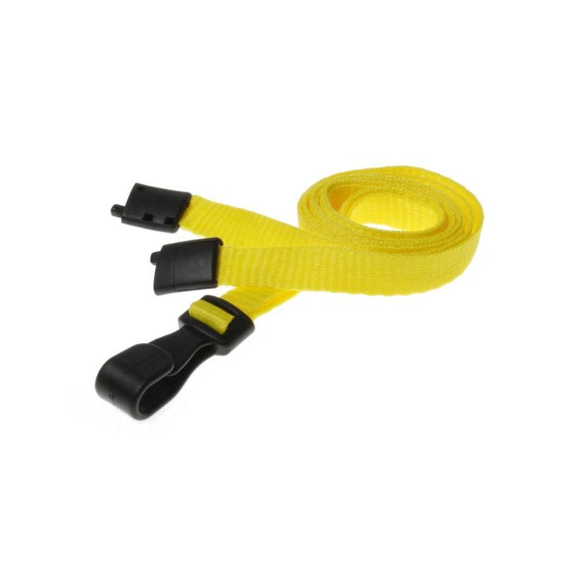 cordons unis jaune pince plastique