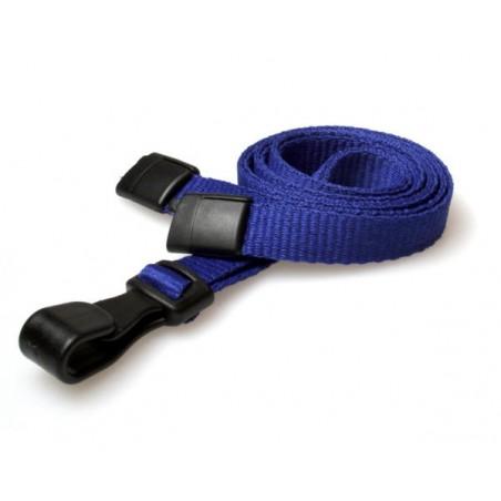 cordons unis bleu pince plastique