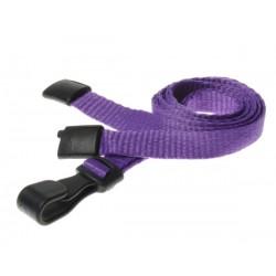 cordons unis violet pince plastique