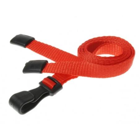 cordons unis rouge pince plastique