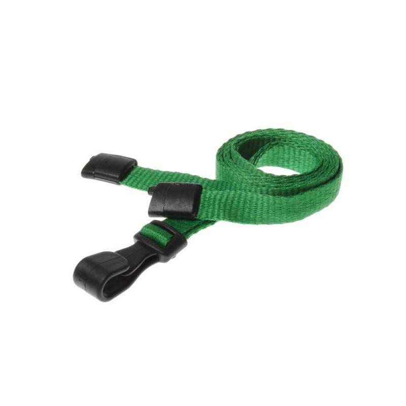 cordons unis vert pince plastique